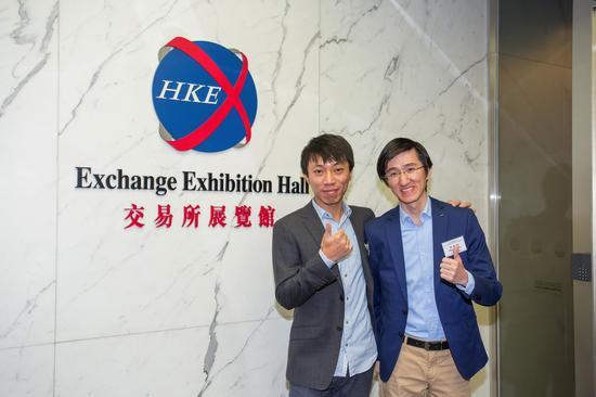 右為飛魚科技CEO姚劍軍,左為飛魚科技總裁陳劍瑜