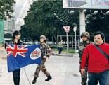 纪硕鸣:谴责干扰驻港部队的行为