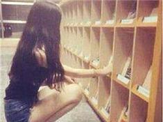 台灣圖書館現「深蹲」女神 被讚索腿天後