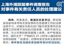 上海黃浦書記區長等因外灘擁擠踩踏事件受處分