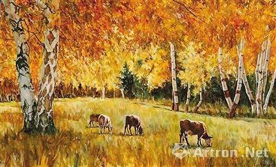 内蒙古风景油画