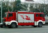 价值900万的双车头消防车