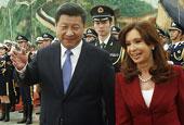 习近平欢迎阿根廷总统克里斯蒂娜访华