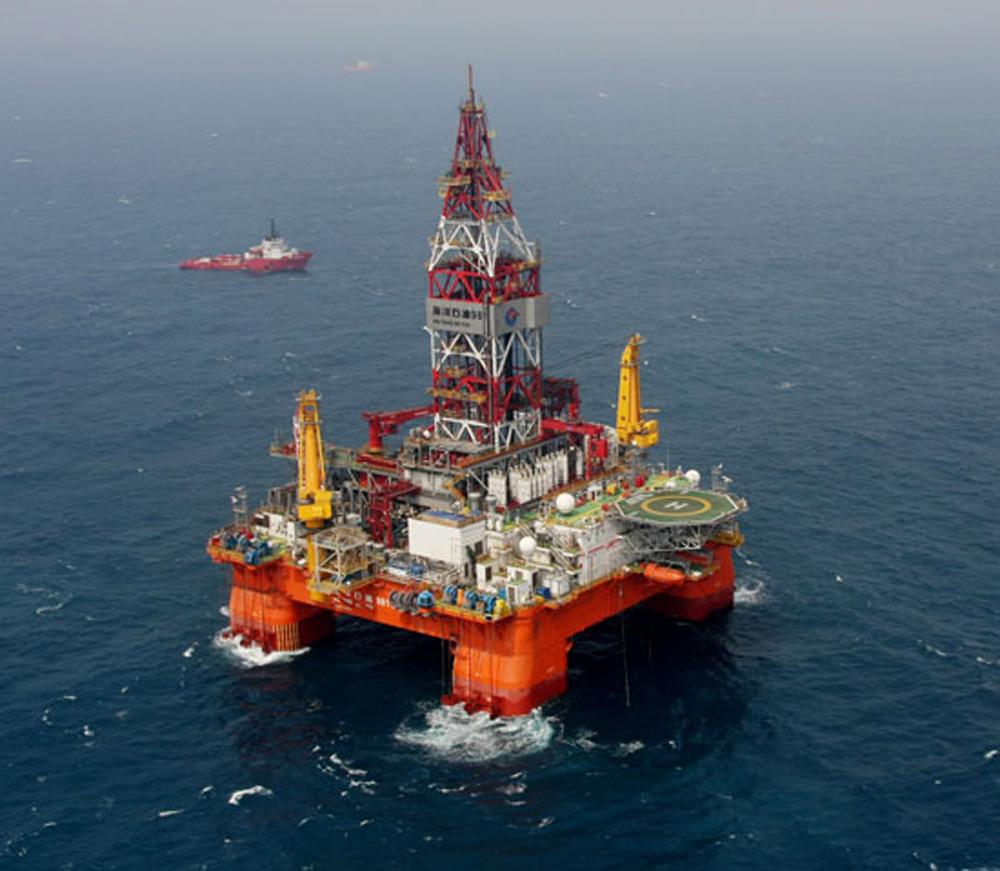 """中海油7日宣布,中国""""海洋石油981""""钻井平台在南海北部深水区发现的"""