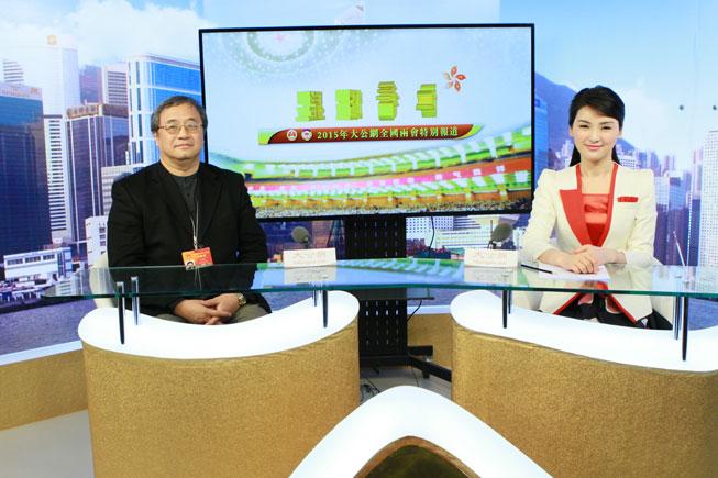 3月3日,全国人大代表、刚毅(集团)有限公司主席王敏刚接受大公网专访。大公网 张文杰摄
