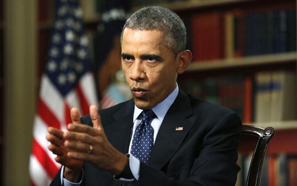 3月2日,奥巴马在白宫接受路透社记者专访