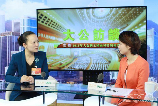 3月7日,全國人大代表、湖南省文化廳廳長李暉接受大公網專訪。大公網 張文傑攝