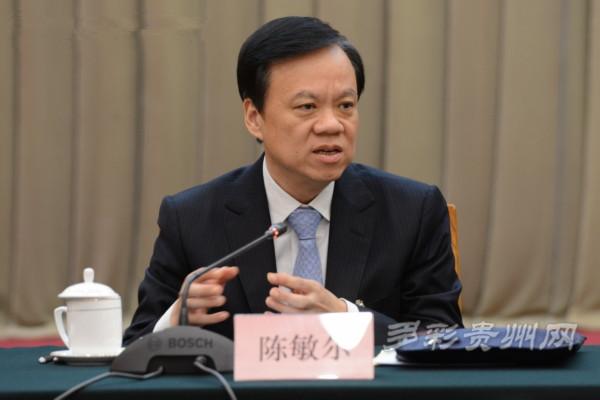 全国人大代表,贵州省省长陈敏尔发言