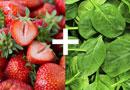 五種神奇的食物搭配 草莓菠菜防脱髮