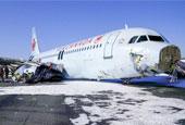 加拿大航空一架客机紧急着陆冲出跑道 致23人受伤
