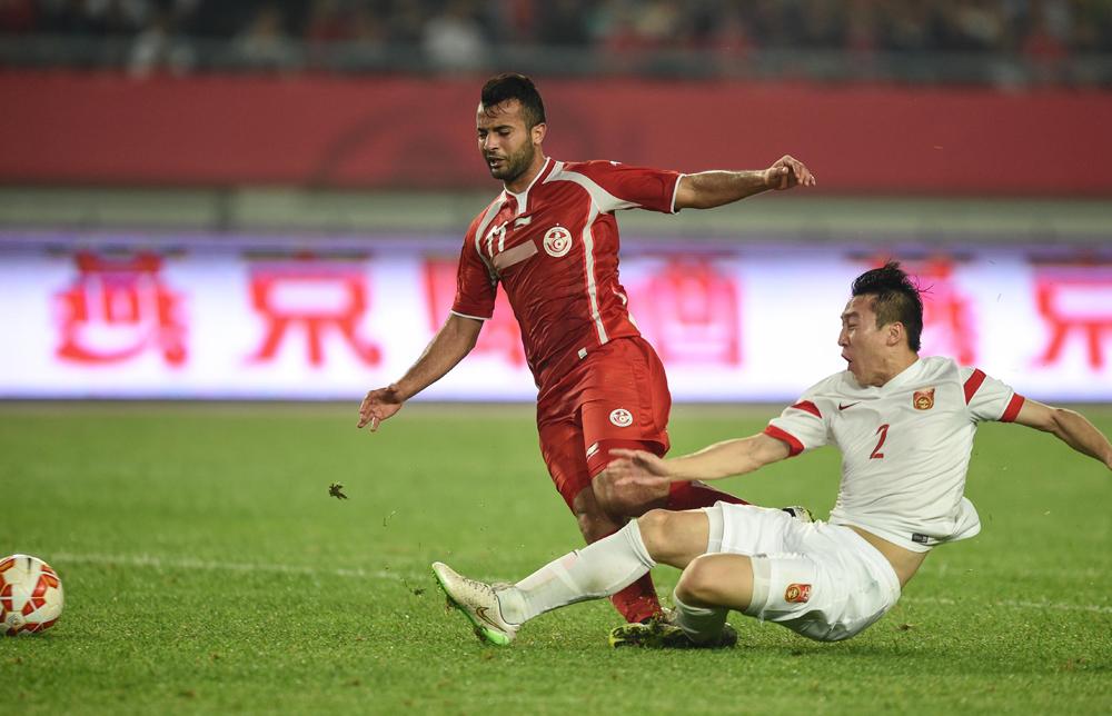 中国队1:1和突尼斯
