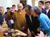 吳邦國參訪江西真如禪寺 與方丈互贈墨寶