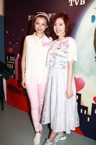 蒋家旻_图:龚嘉欣(左)和蒋家旻齐出席剧集宣传活动