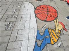 蒙古高校涂鸦走红 增添校园风采!