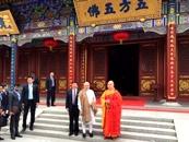 印度總理莫迪參訪大興善寺 贊大興善寺非常漂亮