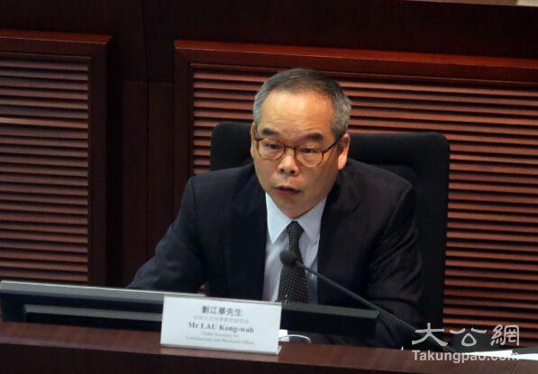 劉江華:落實政改助港發展 勸反對派回心轉意