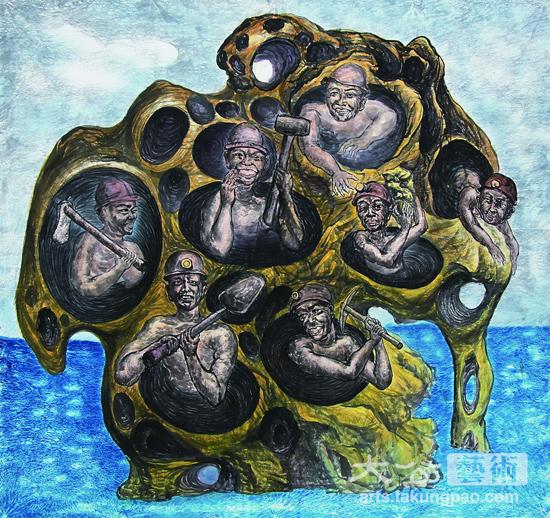 """自九十年代进驻""""圆明园""""画家村追求艺术梦开始,经历种种创作变化,从"""
