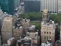 移轴镜头俯瞰下的曼哈顿