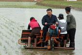 中國駐朝鮮大使在平壤插秧支農