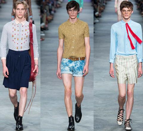 迷情GUCCI 男生也应该穿喇叭裤和绑带鞋了