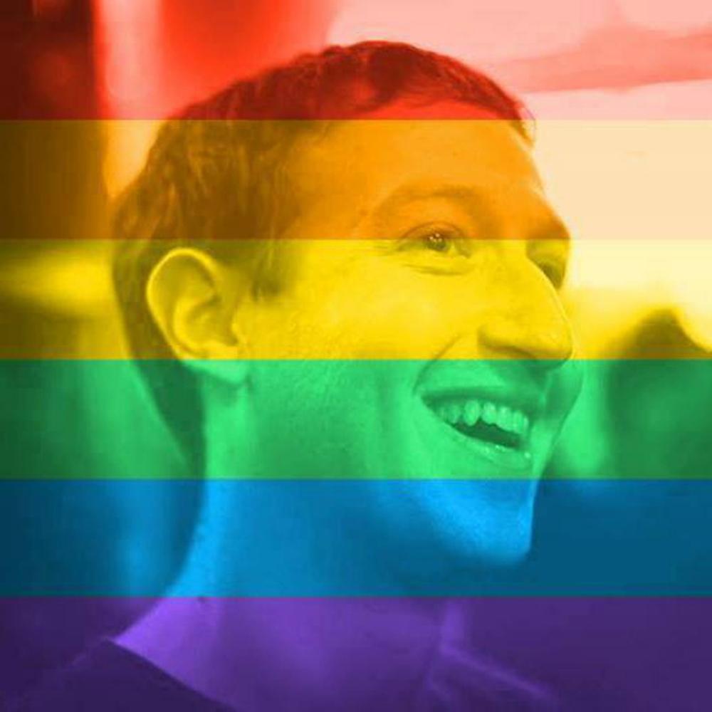 社交网站脸谱向用户提供了滤镜工具,可以将个人资料相片加上彩虹旗的图片