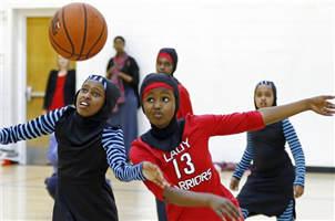 穆斯林女孩们的篮球服