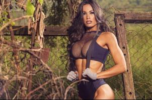 性感美女户外运动秀:发现减肥好办法
