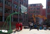 兰州大学宿舍楼爆炸现场