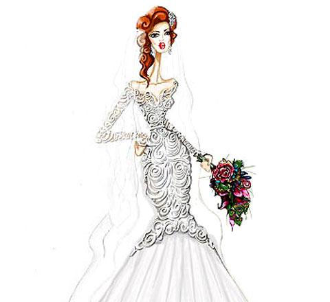 格蕾絲到金大臀 時髦草圖動情演繹100年婚紗進化史