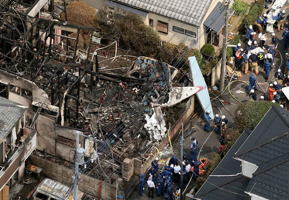 中央社报道:一架小型飞机於26日坠毁於日本东京都调
