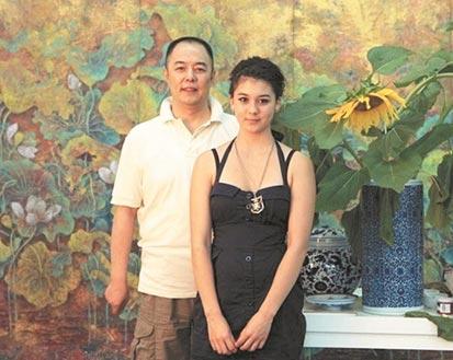 张铁林与混血女儿