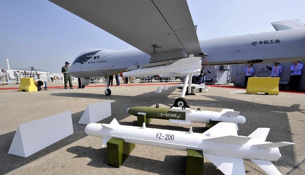 """图:中航工业成都飞机设计研究所设计的""""翼龙""""无人"""