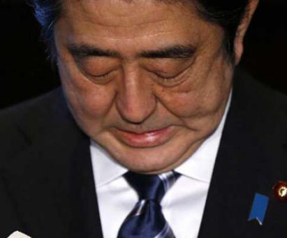 安倍内阁不支持率首超支持率 日媒猜其政权要变天