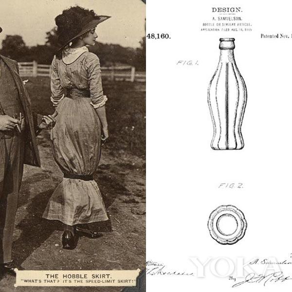 據説可口可樂經典的瓶身,靈感就來自波烈設計的Hobble裙