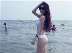 组图:女留学生海滩秀火辣身材 路人看傻