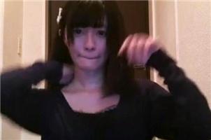 日本美女主播忘关摄像头后