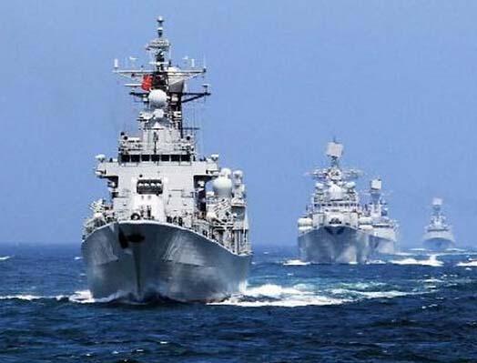 英媒:中俄日本海軍演揭幕 或有意制衡美日
