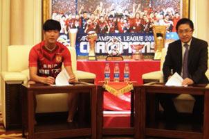 广州恒大宣布与金英权续约四年