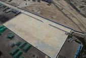 天津建成兩萬平方米防滲池堆放污染土