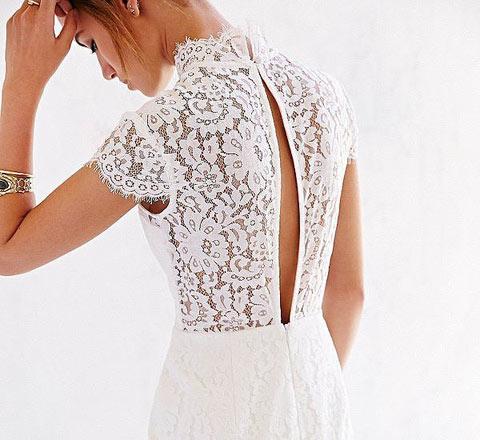 靈魂與肉體的交織 20+妹子最愛白色透視裙