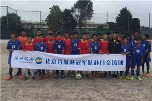 北京中学生足球队访日本