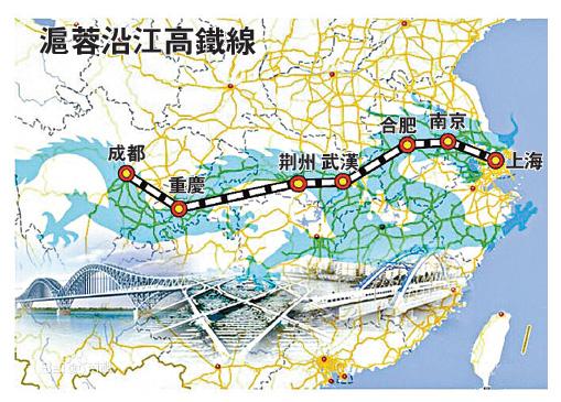 沪蓉沿江高铁串联22市