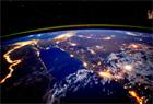 尼羅河夜景絢爛照亮大地