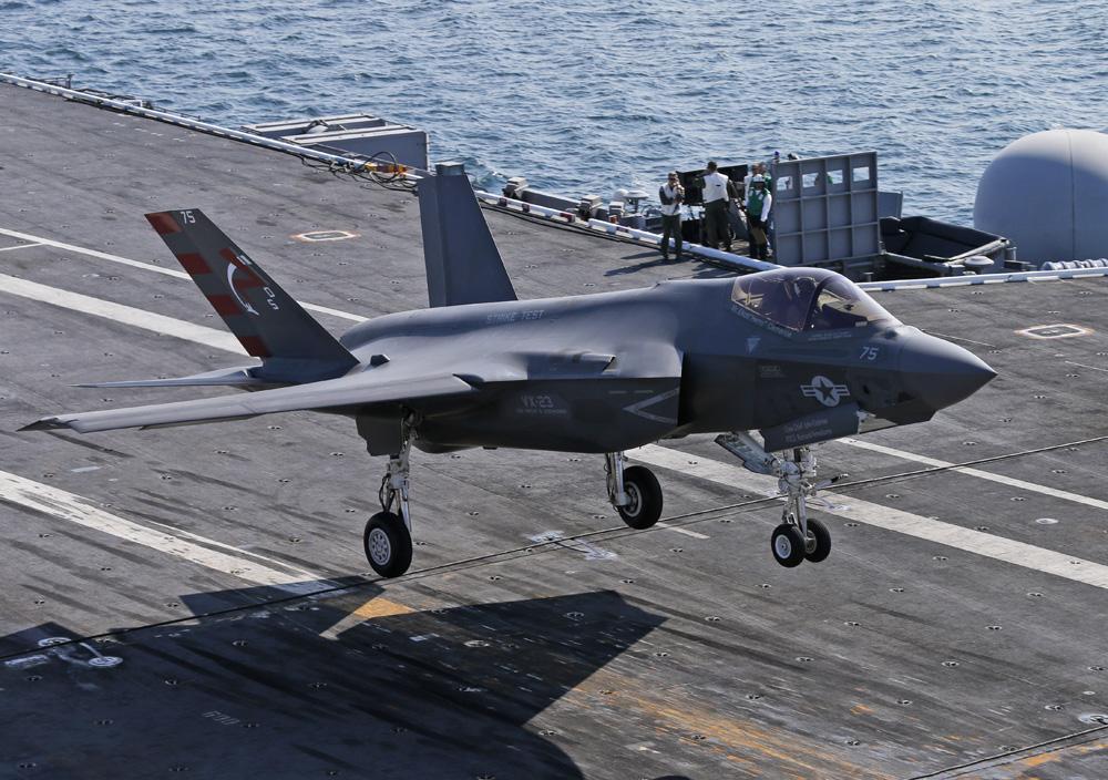 �yf�y�$9.��)�h�_图:f-35c战机9日在航空母舰\