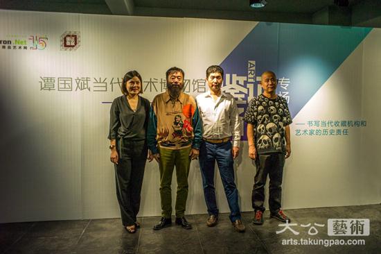 谭国斌当代艺术博物馆馆藏李津 方力钧作品鉴证备案在长沙举行鉴证备