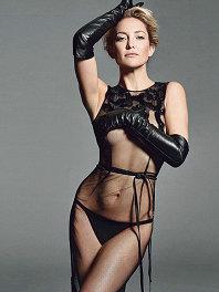凯特哈德森着透视蕾丝裙翩翩起舞 大方展示傲人身材