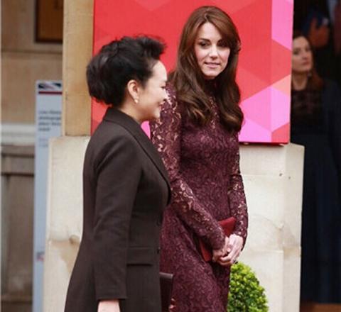 時尚Icon彭麻麻凱特王妃終於相遇 畫面太養眼