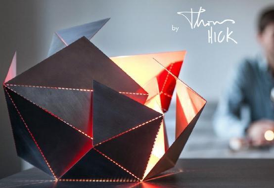 折纸风格LED造型灯亮相 可根据需要任意变换形状