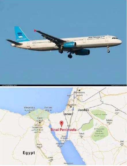 传来消息,俄罗斯一架空客321飞机在埃及西奈半岛靠近以色列附近坠毁