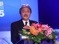 直击央视财经论坛 香港财政司司长曾俊华致辞